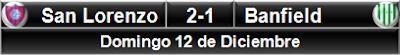 San Lorenzo 2-1 Banfield