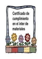 Cumplimiento del inter de materiales