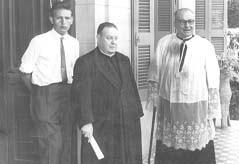 Mons. Macagno y Pbro. Miguel Genesio