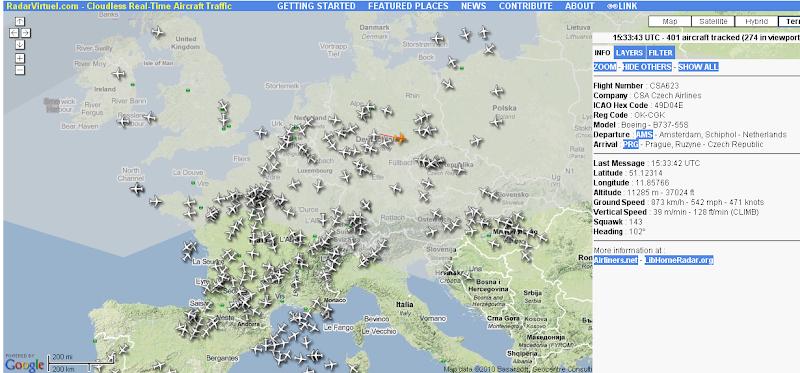 Online Fligth-Radar