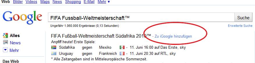 Neue Google Tools Rund Um Die Fussball Weltmeisterschaft 2010