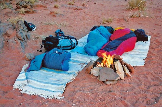 Campamento base para pasar una perfecta noche en el desierto