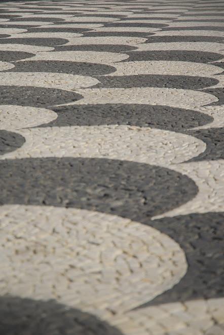 Mosaicos en los suelos de las calles