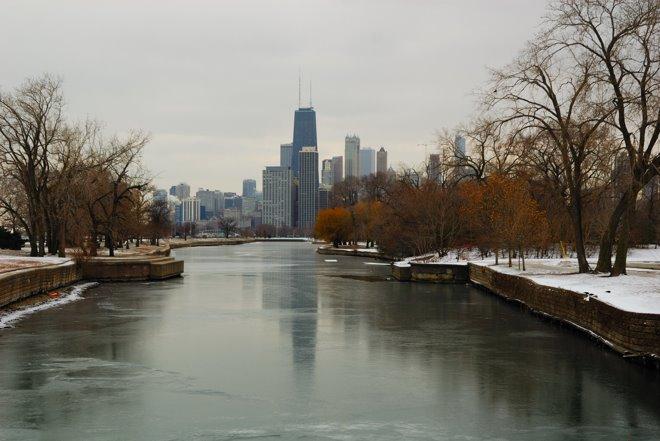 El río helado