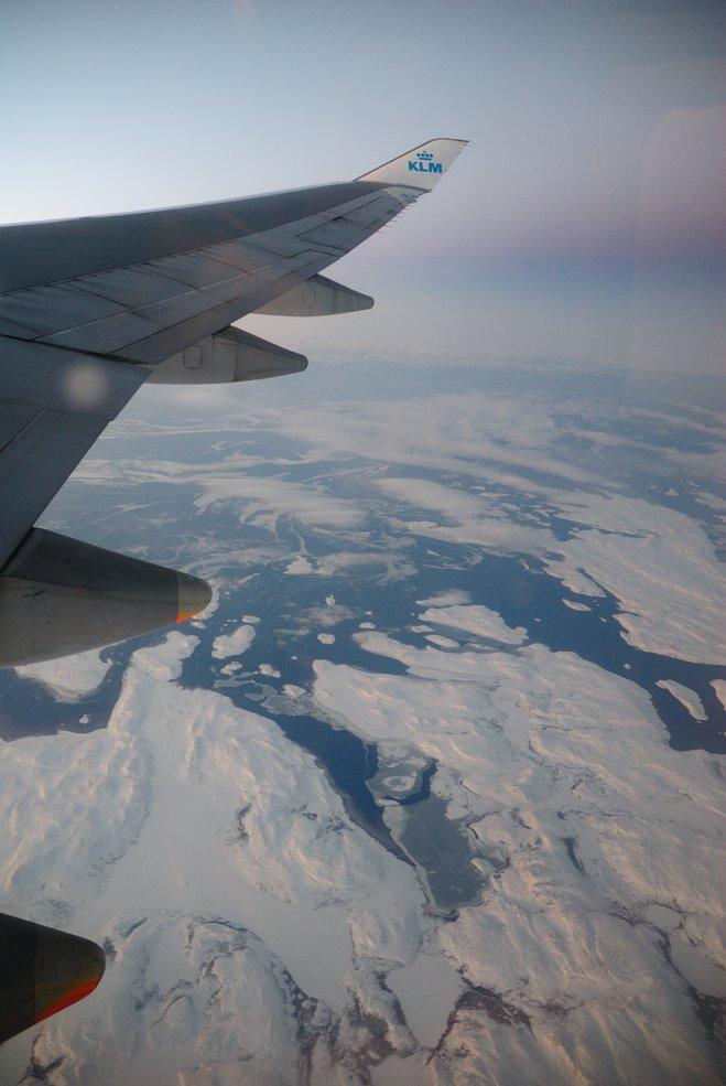 Sobrevolando Groenlandia