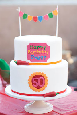 50th birthday cake by Erica OBrien Cake Design