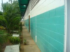 vista lateral de pasillos