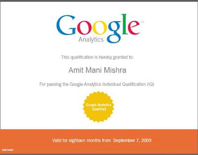 Amit Mani Mishra - Analytics Certified Professional India