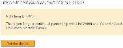 Bukti payout linkworth