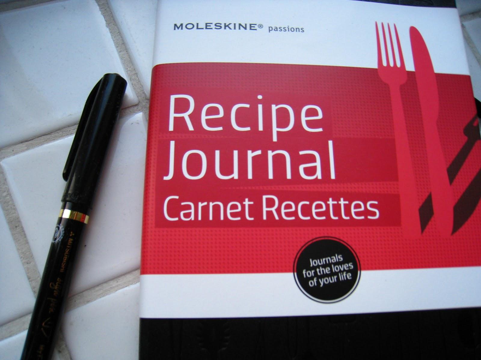 Berühmt Moleskine Rezept Journal Vorlage Bilder - Beispiel Business ...
