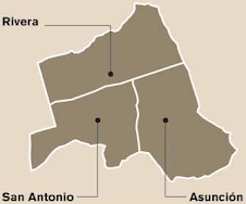 Mapa del cantón de belén