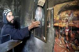 النار أكلت الدير الإ صوره المسيـــــ الله ــــح