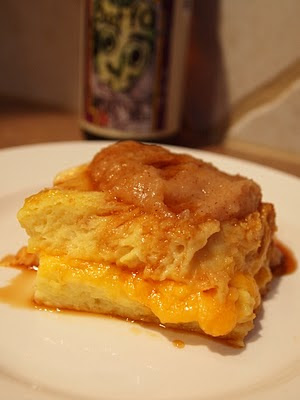 Boffo Brown Sweet Cheddar Bread Pudding with Apple Butter & Boffo ...