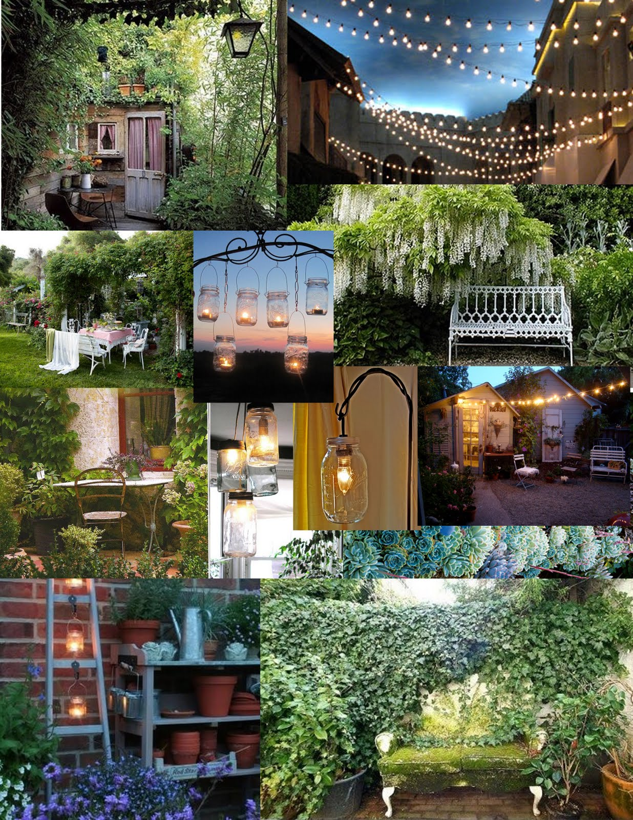 Events by Stella Mare's: Seceret Garden & Patio Inspiration...