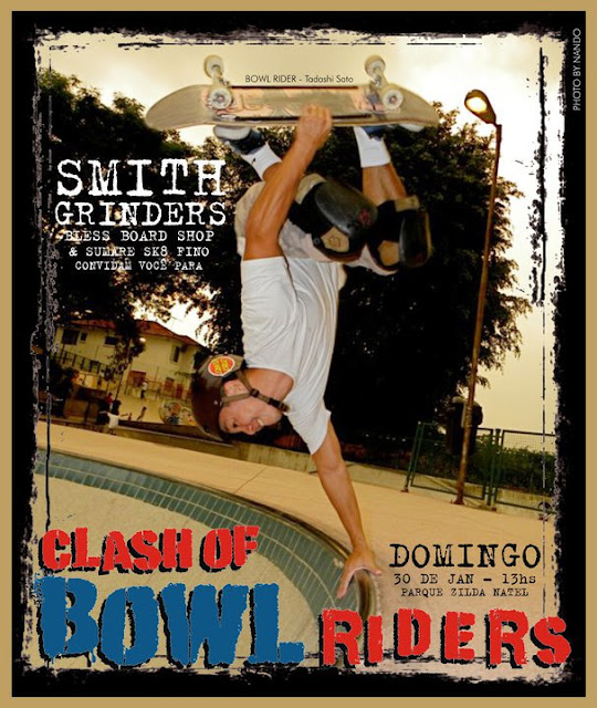 Clash of the bowl riders, Thiago, Smith Grinders, Renato Taroba,Tiago Rodrigues, Luciano PT, Bantam team from Brazil, Pool Party, Bowl Riders