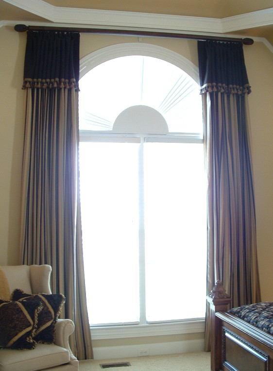 Curtains for arches window arched windows window ideas arches window treatments hanging