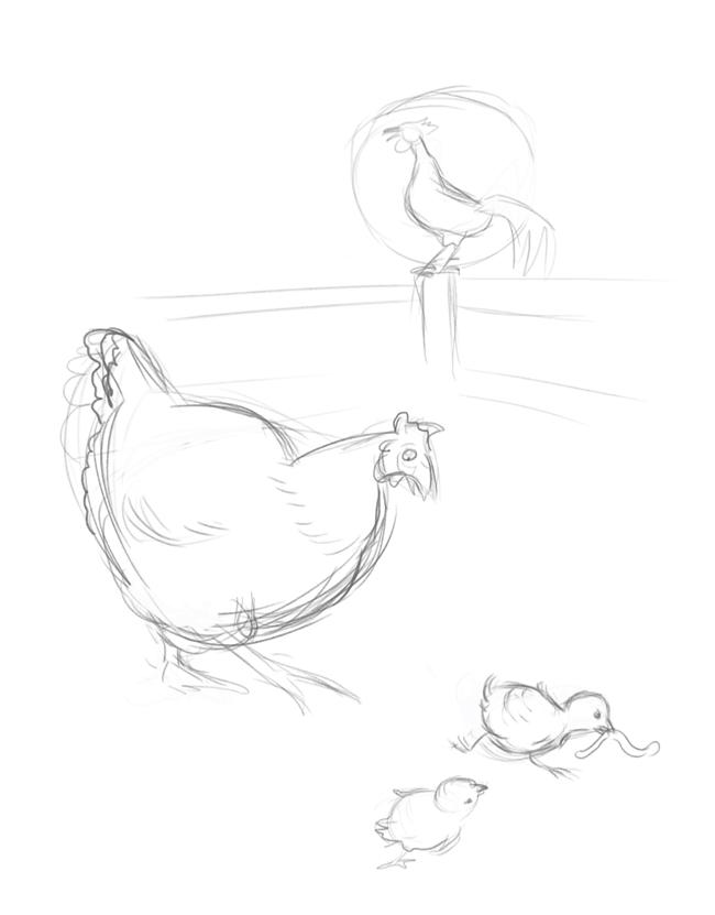 chicken wing sketch templates