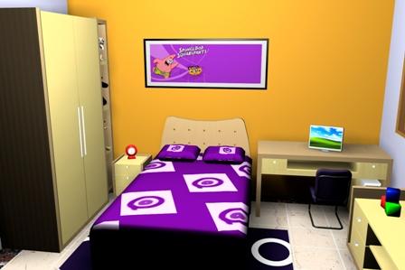desain standart kamar kost