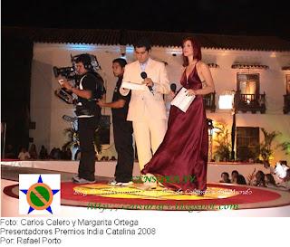 Carlos Calero y Margarita Ortega 'Premios India Catalina 2008'