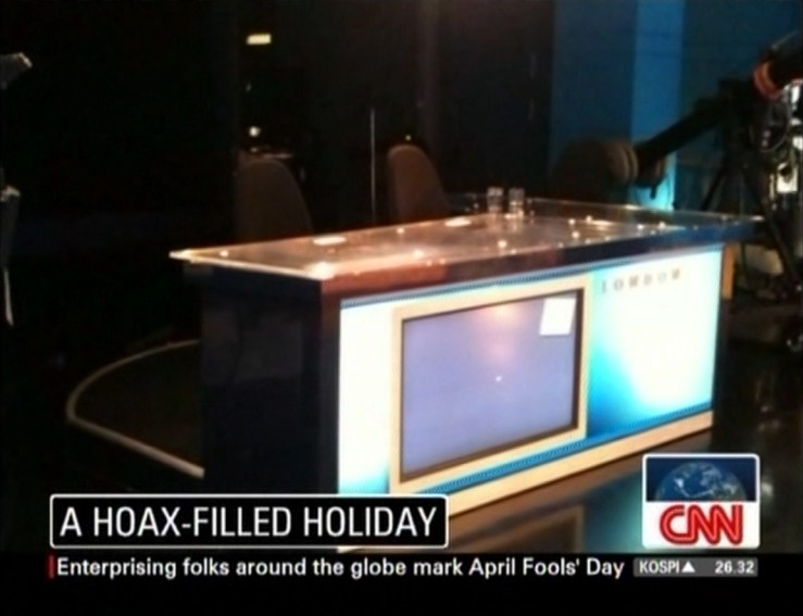 smart teen april fool. April Fools' Day At CNN London.