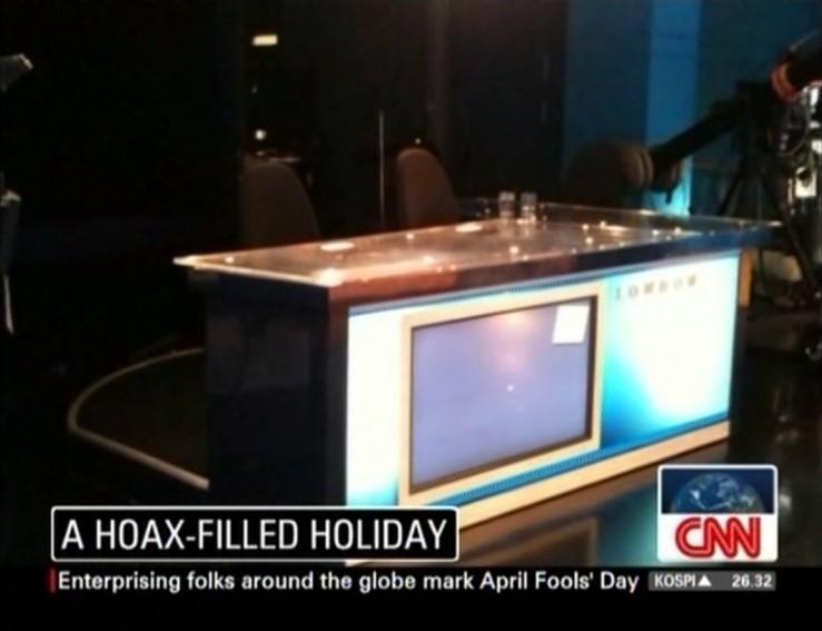 April Fools' Day At CNN London. The morning team at CNN London had a ...