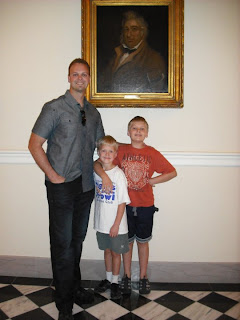 In front of Peter Francisco painting inside Capitol building