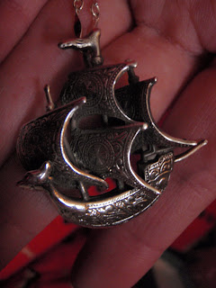 Spanish Galleon Pendant by Flotsam & Jetsam NY