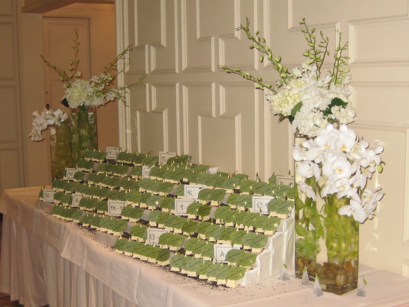 ... wanted a forest themed wedding we brought all the green flowers and
