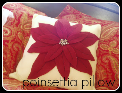 sewing poinsettia pillow tutorial