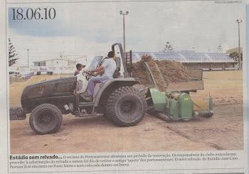 Estádio sem Relvado - Renovação de Relvado em Porto Santo