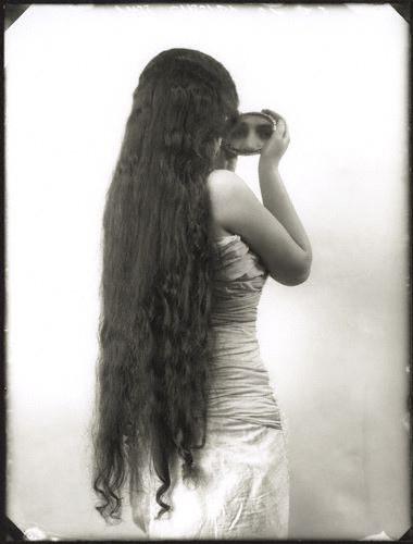 Fétiche de cheveux noirs