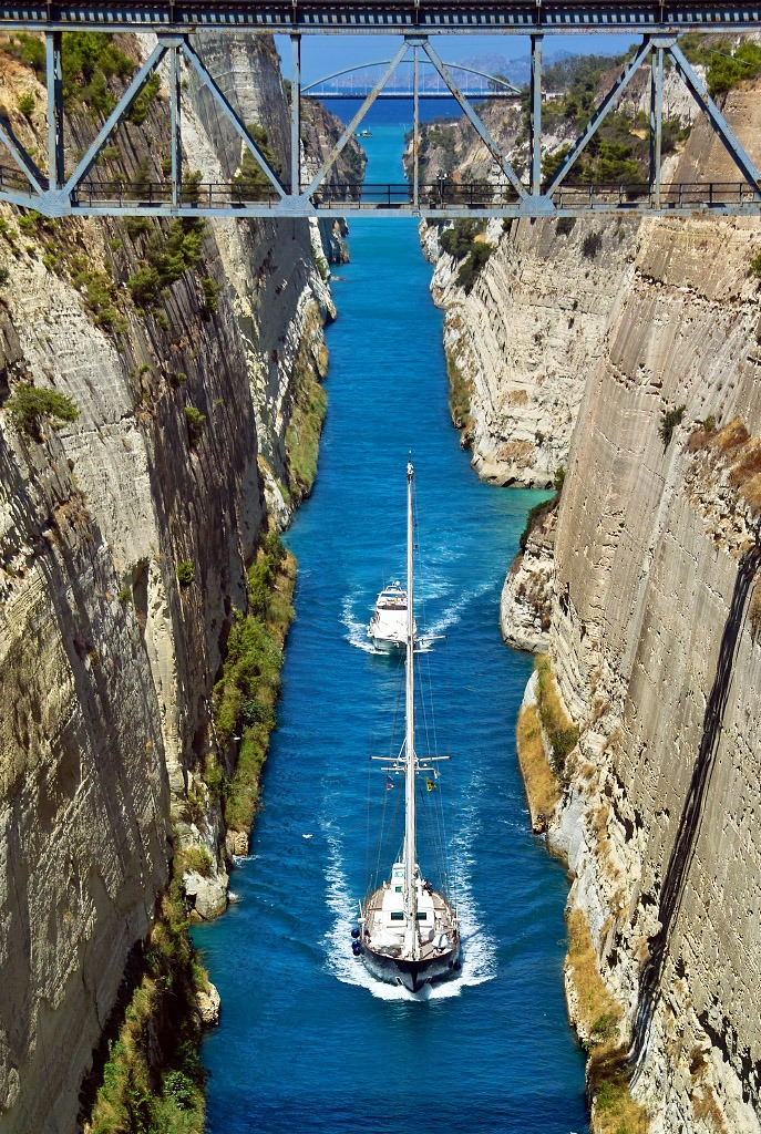 Corinth Canal, Greece.