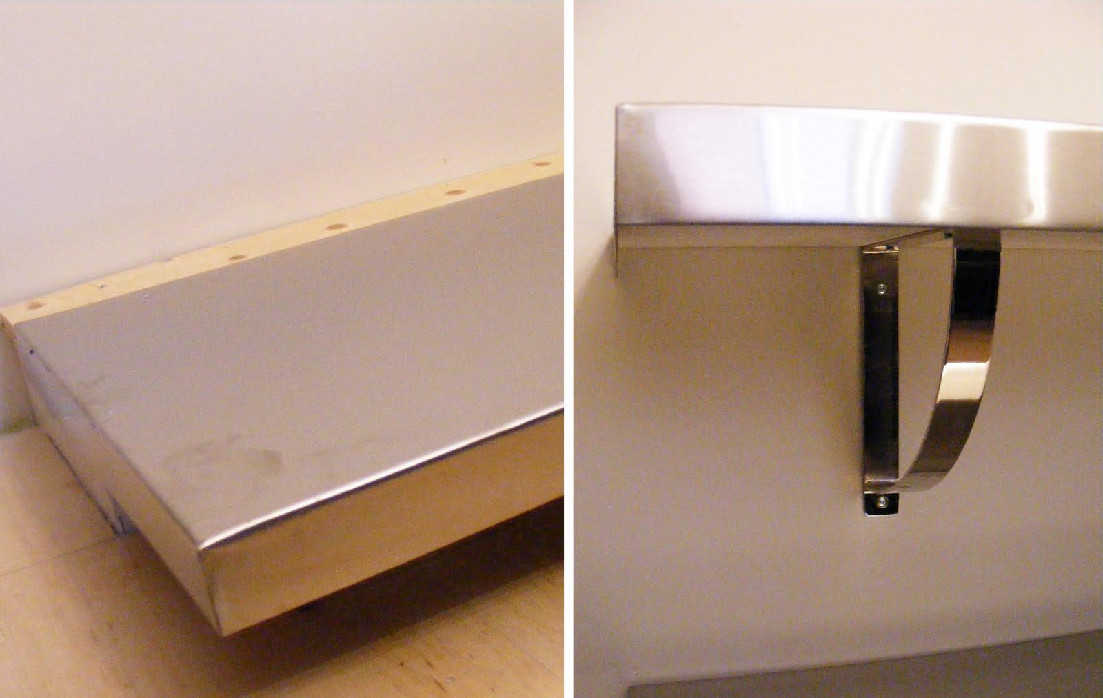 DIY Stainless Steel Shelves