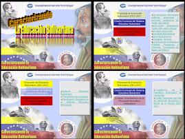 Caracterizano la Educación Bolivariana