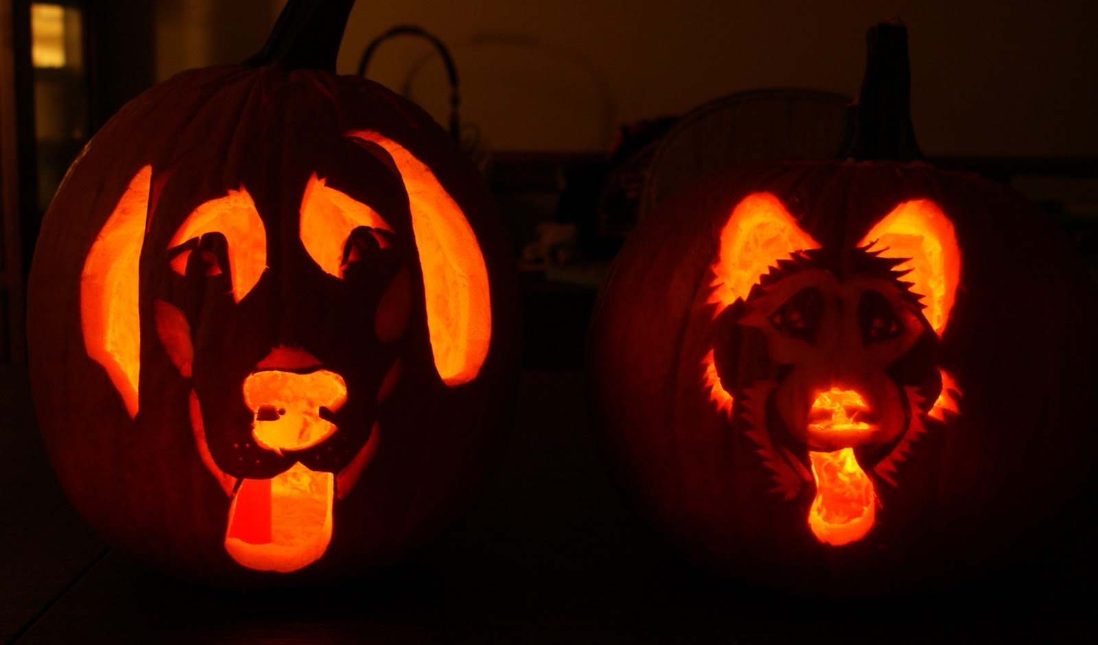 Babbling brooke dog pumpkin carving