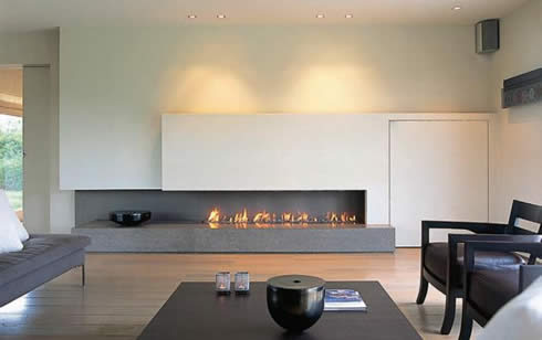 Most Modern Minimalist Homes Do Away With Fireplaces Or Believe That They Are A Tradition Of The Past Not Fir Into Sleek Slender And Futuristic