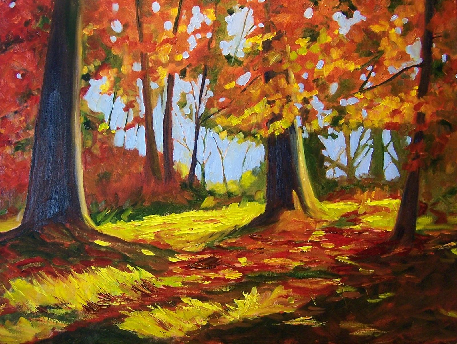Painting Small Impressions Walk In The Woods Original American
