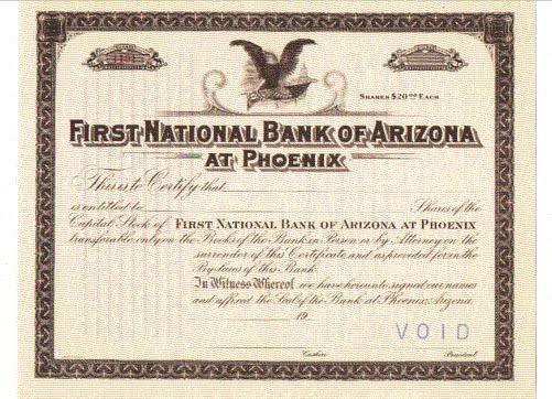 Arizona National Banknotes: 3728 First National Bank of Arizona at ...