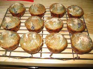 Tale of Two Sisters and Their Kitchens   Cinnamon-Blueberry Muffins