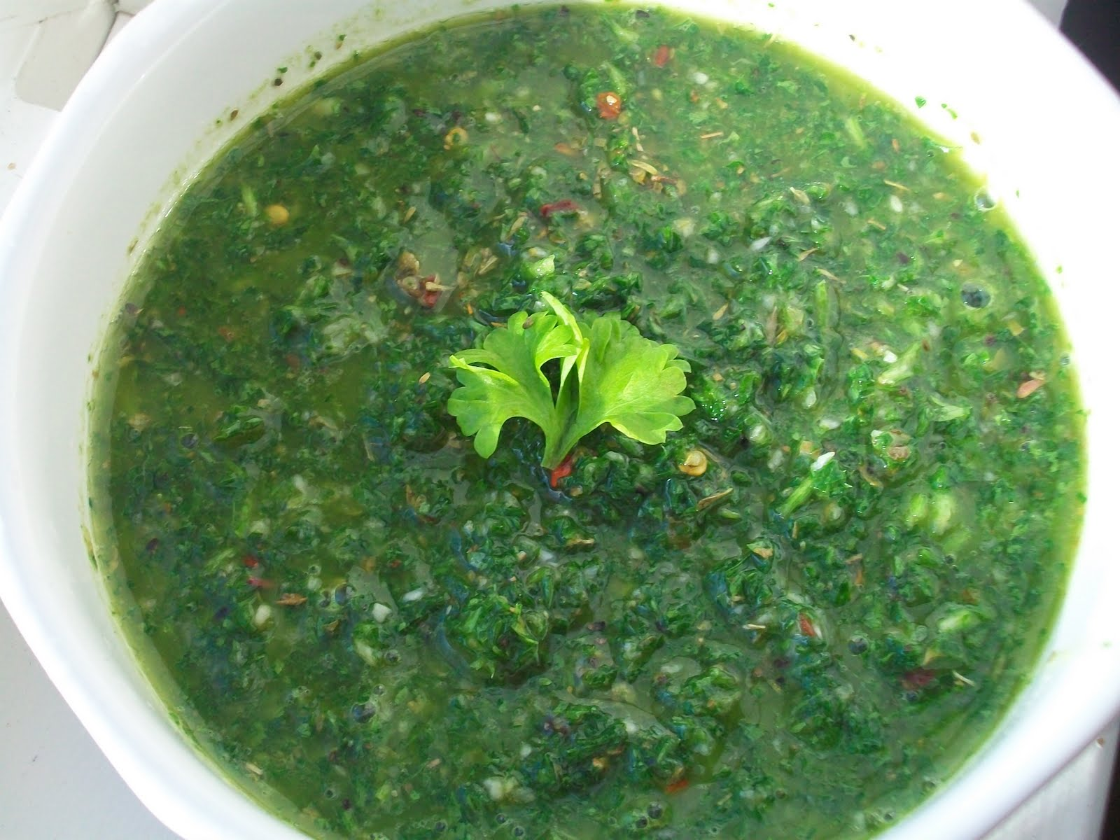 Peace, Love, and Coffee: Chimichurri Sauce