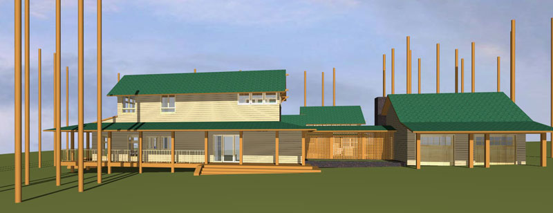 Single Garage with Breezeway - House Plans, Home Plans, Home Floor