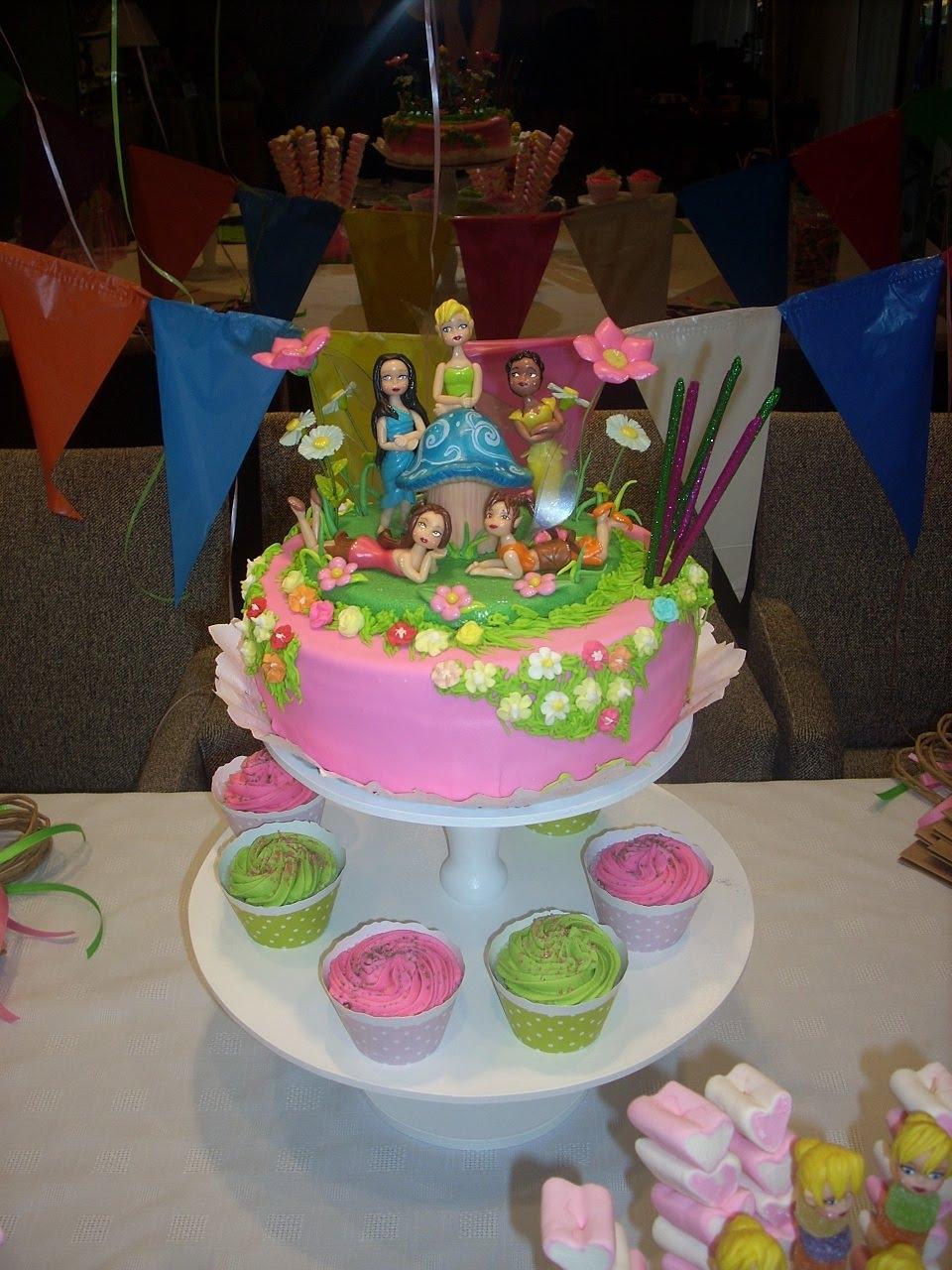 Pequeñas Tentaciones: Torta y Cupcakes Tinker Bell