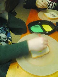 Valentine Edible Art Milk Paint Recipe for preschoolers.