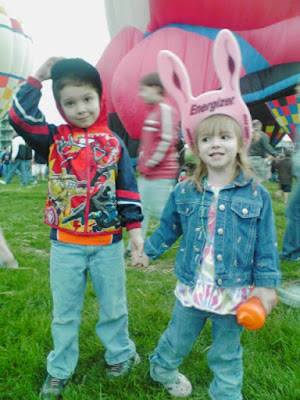 Foam Energizer Bunny Hats at Balloon Celebration