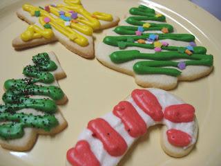gluten free sugar cookies iced
