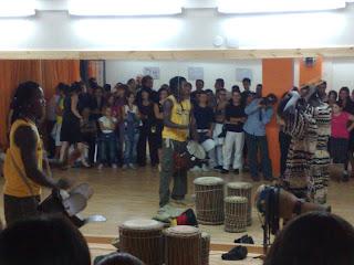 Gruppo tribale giamaicano all'inaugurazione.