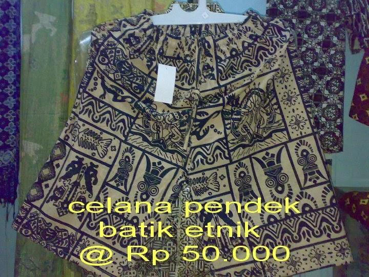 Celana Pendek Batik Etnik - PEKALONGAN_ART