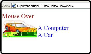 Onmouse over DHtml changepicture function car