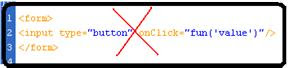 php onclick event does not work