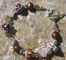 Chocolate Candy Lampwork Bracelet